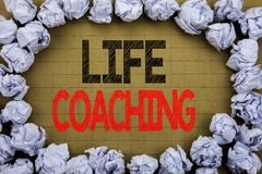 Life Coaching. Business concept for Personal Coach Help written on vintage background with copy space on old background with folde. Life Coaching. Business Royalty Free Stock Photo