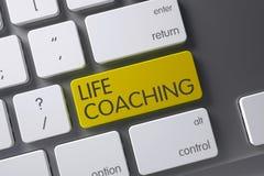 Life Coaching Button. 3D Render. Royalty Free Stock Photos