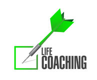 life coaching check dart sign concept Stock Image