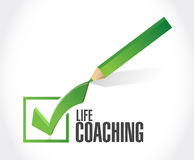 Life coaching check mark sign concept Royalty Free Stock Photos