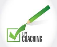 life coaching check mark sign concept Royalty Free Stock Photos