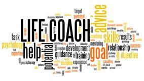Life coaching. Life coach - personal development training word cloud Royalty Free Stock Photography