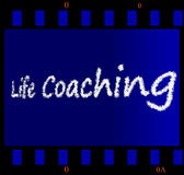Life Coaching Filmstrip. Background llustration Royalty Free Stock Photography