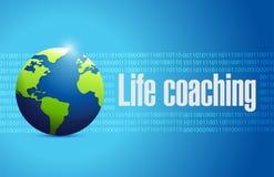 Life coaching globe sign concept Stock Image