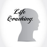 Life coaching head sign icon concept Stock Photo