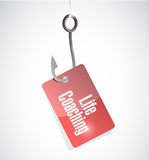 Life coaching hook tag sign icon concept Royalty Free Stock Photography