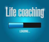Life coaching loading bar sign concept Stock Photos