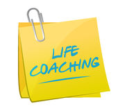 Life coaching memo post sign icon concept Stock Photo