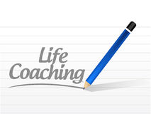 Life coaching message sign icon concept. Illustration design over white Stock Photography