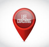 Life coaching pointer sign concept Stock Photo