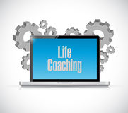 Life coaching tech computer sign concept Royalty Free Stock Photo