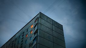 Life in the coldness. Soviet style old apartments in Kharkov Ukraine stock photos