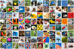 Life collage. Different kinds of life in a collage of photos royalty free stock images