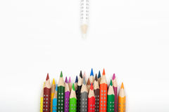 Life of color pencils Royalty Free Stock Image