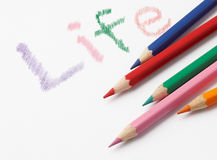 Life is colorful. Color up your life with color pencils Stock Image