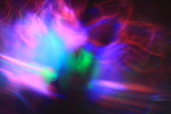Life of Colour. A colour image of lights creating colours and shapes on a black background Royalty Free Stock Photo