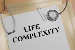 Life Complexity - medical concept. 3D illustration of LIFE COMPLEXITY title on a medical document Stock Photo