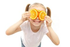 Life is cool in orange glasses Stock Photography