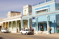 Life in small Cuban town stock image