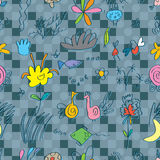 Life Cute Seamless Pattern Royalty Free Stock Photo