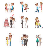 Life cycle of a couple Stock Image