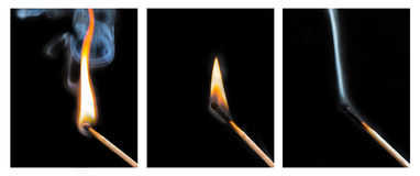 Life Cycle of a Match Royalty Free Stock Photos