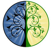 Life and Death. Tree of Life and Death vector illustration