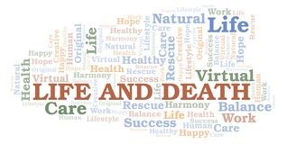 Life And Death word cloud. Wordcloud made with text only vector illustration