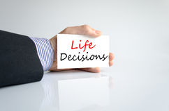 Life Decisions Concept Royalty Free Stock Photography
