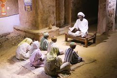 The life of desert Bedouins - Egypt. The life of desert Bedouins in Museum of Nubia Egypt Egypt, Aswan, Ancient Antiques at Museum of Nubia Egypt 20 September Royalty Free Stock Photos