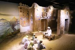 The Arabian Women life of desert Bedouins - Egypt. The life of desert Bedouins in Museum of Nubia Egypt Egypt, Aswan, Ancient Antiques at Museum of Nubia Egypt Stock Images