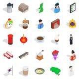 Life of ease icons set, isometric style. Life of ease icons set. Isometric set of 25 life of ease vector icons for web isolated on white background Stock Images