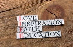 Life education  inspiration Stock Image