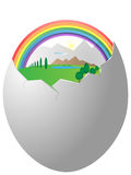 Life in egg shell Royalty Free Stock Images