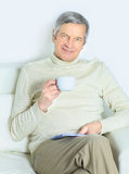 The life of an elderly person. Royalty Free Stock Photo
