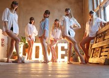 Bachelorette party royalty free stock images