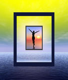 After life experience. Illustration symbolizing salvation or some transcendent experience Stock Photography