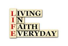 Life faith royalty free illustration