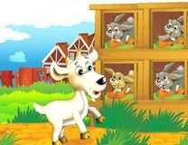 The life on the farm - illustration for the children Stock Photography