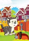 The life on the farm - illustration for the children Stock Images