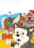 The life on the farm - illustration for the children Royalty Free Stock Image