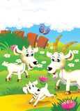 The life on the farm - illustration for the children Royalty Free Stock Photos