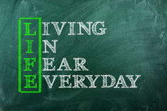 Life fear stock photography
