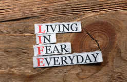 Life fear  inspiration Royalty Free Stock Photography