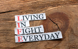 Life fight  inspiration Stock Photos