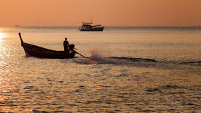 Life of fisherman Stock Photo