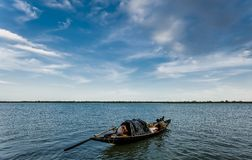 Life. Fishermans from sunderbans tiger reserve which is sarrounded by man eating tigers Stock Photos