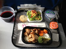Life during flight from hawaii to mainland seattle usa Stock Photo
