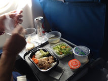 Life during flight from hawaii to mainland seattle usa royalty free stock photo