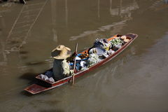 Life in floating market Royalty Free Stock Images